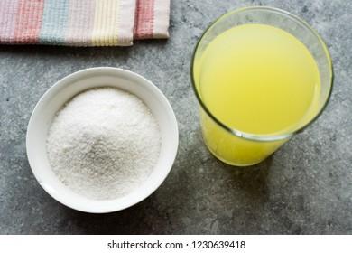 Instant Lemon Flavored Fruit Juice Pectin Powder for Lemonade Beverage.