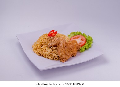 Instant Noodle crispy chicken with spicy flavor.