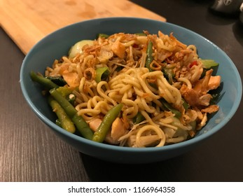 Instant noodle from Indonesia called mie goreng