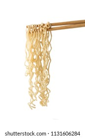 Instant Noodles with chopsticks. Instant Noodles with chopsticks isolated on white background.