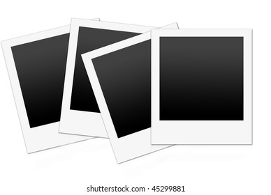 instant photo with black space with room to add your own image