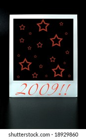 instant photo card with stars ,2009