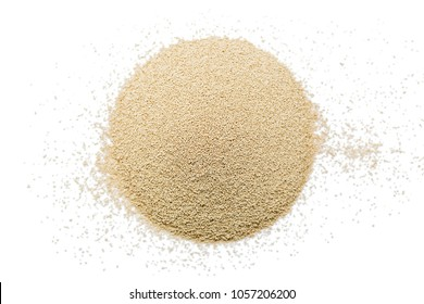 Instant yeast on white background