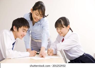 An institute teacher and a school boy