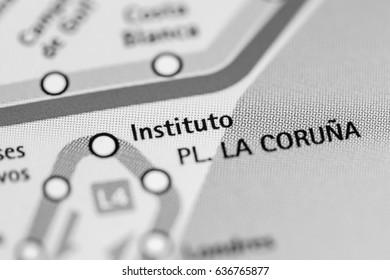 Instituto Station. Alicante Metro map.