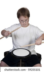 An instructional Drum Practice Pad used for learning drums