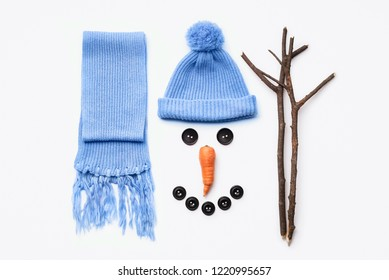 8e2fc8b11b3 Instructions - how to make a snowman. A set of items for winter fun with