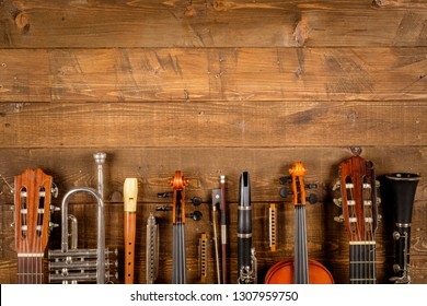 instrument in wood background