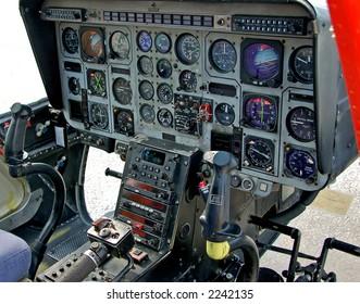 Instrumentation in helicopter cockpit