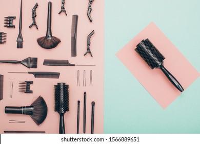 instruments for the barber, hairdresser