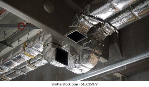 Insulated ventilation ducts for heating and cooling