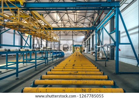Insulation Sandwich Panel Production Line Roller Stock Photo