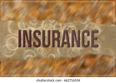 Insurance, business & finance conceptual words, with texture background for web page, graphic design, catalog or wallpaper.