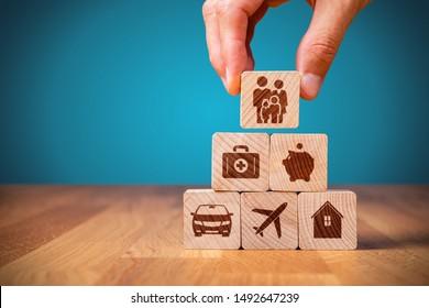 Der Kunde der Versicherungsgesellschaft übernimmt das komplette Versicherungskonzept. Versicherung und Versicherung: Autos, Immobilien und Immobilien, Reisen, Finanzen, Gesundheit, Familie und Leben.