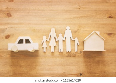 Insurance concept. family life, financial and health issues