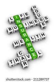 insurance cubes crossword puzzle