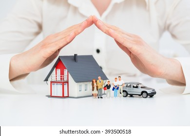 Insurance Home House Life Car Protection Protect Concepts