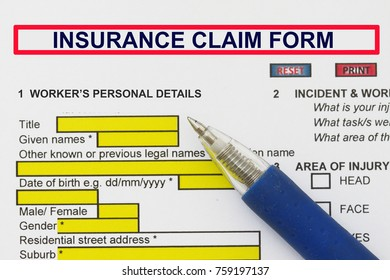 Insurance Injury Claim Form - many uses in the insurance industry.