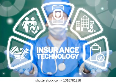 Insurance technology health care concept. Medical Insurtech.