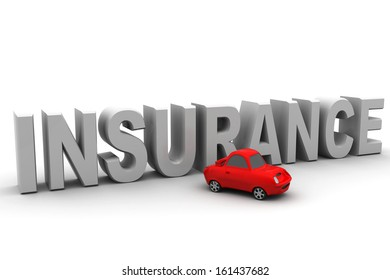 Insurance text isolated over white background