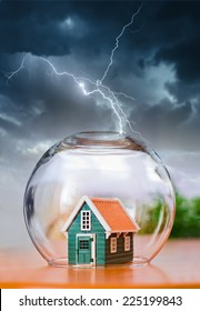 Insured house under protection, during natural calamities