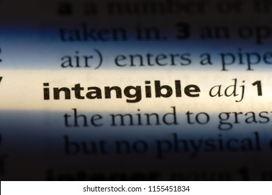 intangible word in a dictionary. intangible concept.