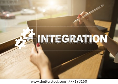 Integration Concept Industrial Smart Technology Concept Stock Photo