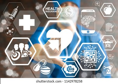 Integration Medical Modern Information Technology. Integrated Smart Healthcare. Integrate Innovative Technologies Big Data AI IOT Robotic Tech.