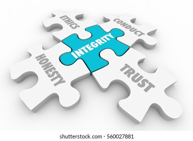 Integrity Principles Trust Ethics Conduct Honesty 3d Illustration
