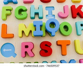 INTELLIGENCE QUOTIENT letter block toy for childrens