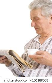 Intelligent elderly man in full vigor feels fine