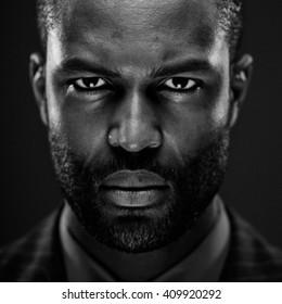 Intense African American Studio Portrait