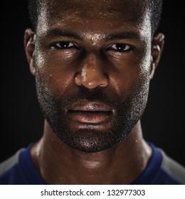 Intense Athlete Portrait