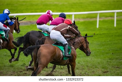 intense horse racing competition