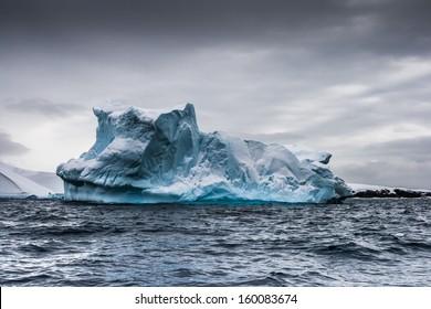 Intense iceberg near Vernadsky Station, Antarctica.