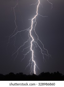 An intense lightning storm in western Slovakia.