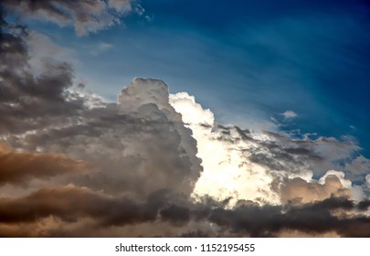 Intense Monsoon storm clouds ready to unleash wind, dust and rain along with lightning and thunder upon the desert southwest