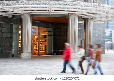 Intentional Blurred Image of Young People in Shopping Center