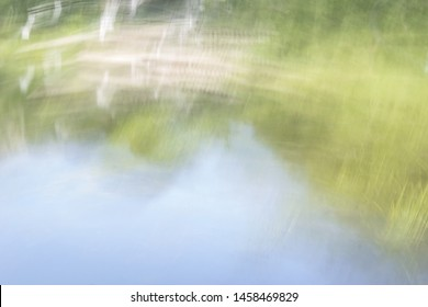 Intentional camera movement artistic landscape as a photographer expression of landscape and moody photos of blurry subjects