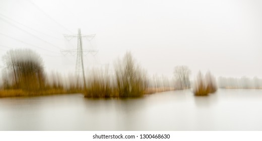 Intentional Camera Movement used with High voltage towers