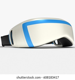 Interactive glasses virtual reality. Design exclusive. VR.3D illustration