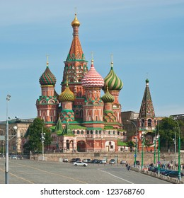 Intercession Cathedral (St. Basil's) on Red Square in Moscow, Russia