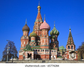 Intercession Cathedral St. Basil's on Red square, Moscow, Russia