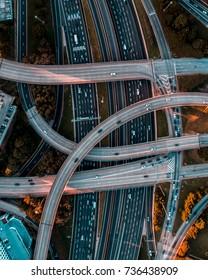 Interchange on the Interstate in Atlanta, Georgia