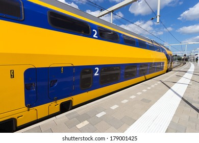 Intercity train at Arnhem Central Station, The Netherlands