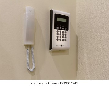 intercom in a private apartment