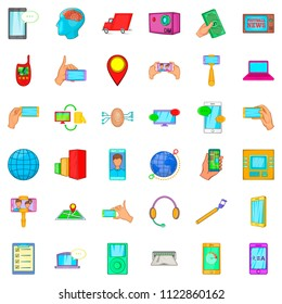 Intercourse icons set. Cartoon set of 36 intercourse icons for web isolated on white background