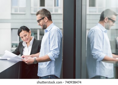Interested man choosing home for live in