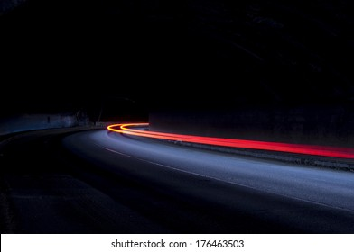 Interesting and abstract lights in color that can be used as background or texture