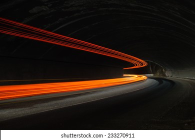 Interesting and abstract lights in orange, red, yellow and white that can be used as background or texture